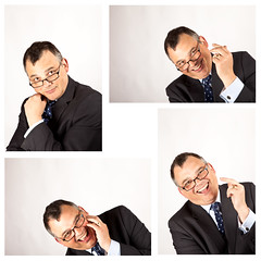 Manic (menickstephensorg) Tags: selfportrait composite studio glasses eyes garage suit laugh stare laughter canonef2470mmf28lusm pretend manic canoneos5dmk2