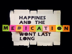 Happiness and the medication won't last long (alshepmcr) Tags: streetart last psychiatry happy stencil happiness drugs depression anorexia anorexic anxiety medication anxious mental psychology manic alshepmcr