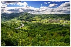Landscape with Highway in Switzerland (Bözberg Kt. Aargau) (Anselm11) Tags: landscape highway wolken jura grün landschaft aargau habsburg bözberg afzoomnikkor2870mmf3545 snapseed