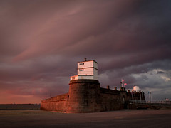 Fort Perch Rock (*Richard Cooper *) Tags: fujifilm x10 perch rock new brighton wirral merseyside night storm sunset