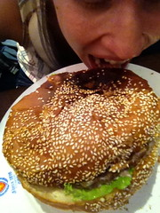 monica also attempted this challenge. (brendan gibson) Tags: china sexy apple girl tongue asia eating burger contest inner mongolia monica hamburger prc challenge prettygirl 4s iphone innermongolia hohhot weintraub monicaweintraub appleiphone4s