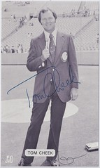 1977 J.D. McCarthy Toronto Blue Jays Postcard - Tom Cheek (b: 13 Jun 1939 - d: 9 Oct 2005 at age 66) Ford C. Frick Award - 2013 - Autographed (WhiteRockPier) Tags: baseball postcard 1979 signed autographed torontobluejays jdmccarthy