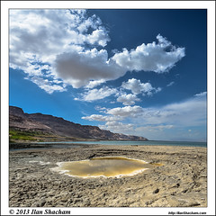 Sinkhole Cloud Signals (Ilan Shacham) Tags: sea sky mountain clouds square landscape israel colorful view desert fineart scenic deadsea sinkhole eingedi fineartphotography   gettyimagesmiddleeast gimejun1713