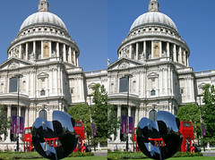 3D St.Paul's sphere (3D shoot) Tags: england bus london 3d stpauls stereo sphere parallel saintpauls londonbus stereoscope oof oob ttw 3dshoot