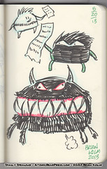 5-20-2013 Kid Monsters 01 (atomicbear) Tags: art monster sketch artist drawing challenge dailydrawing maymixer kidmonsters