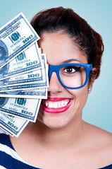 woman holding money (Francis Jimnez Meca) Tags: people woman money eye girl beautiful beauty smiling closeup female shopping happy grey hands pretty bills background space joy gray young happiness cash professional business pay attractive filipino contact saving cheerful joyful ethnic financial copy twenty dollars ethnicity polynesian businesswoman finances businessperson greybackground