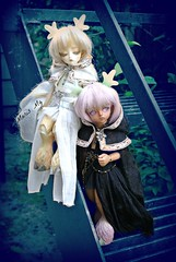 Quartz & Onyx (crzyboutalice) Tags: spirit deer elements bjd soom abjd ai gem afi teenie yosd