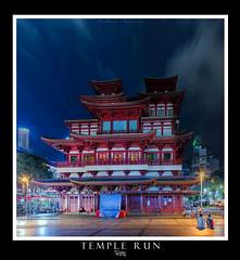 Temple Run (Ashley Matthew Teo) Tags: blue panorama night tooth temple evening singapore exposure dusk buddha magic traditional hour orient masking relic blending luminosity oritental vertorama