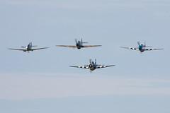 The Eagle Squadron (Huw Hopkins LRPS Photography) Tags: england spring united hurricane may kingdom x airshow ia duxford spitfire cambridgeshire mk 1a hawker airfield iwm supermarine 2013 mkx ae977 ar213 mk1a mkia p7308