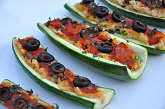 Pizza-Boats (Diana @ Real Healthy Recipes) Tags: boats stuffed healthy pizza zucchini lowcarb paleo baked glutenfree