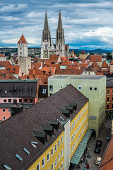 Regensburg, Germany (rvtn) Tags: travel germany bavaria europe rooftops cathedral spires gothic roofs regensburg