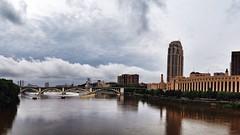 Downtown Minneapolis (Jon & Brigid) Tags: storm water minnesota clouds river mississippi minneapolis mpls mississippiriver storms mn hennepin minneapolismn