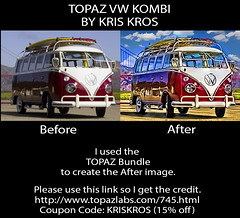 TOPAZ VW KOMBI BEFORE AND AFTER (Kris Kros) Tags: photoshop kris hdr kkg photomatix kros kriskros hdrunleashed
