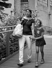 Mother and Daughter - D7K 6678 ep (Eric.Parker) Tags: nyc bw woman newyork girl daughter mother highline 2013