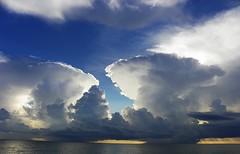 DOUBLE TROUBLE (carolynthepilot) Tags: world blue sky usa sun storm gulfofmexico weather skyline clouds florida cloudy miami hurricane bluewater bluesky lauderdale cumulus sarasota ft thunderstorm fl blueskies usatoday global weathercom srq cloudfront blueonblue hurricaneseason goldenwings worldtraveler worldtraveller floridaweather nimbo frommers carolynbistline floridathunderstorms carolynthepilot carolynsuebistline