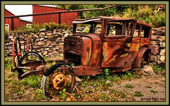 Rusting in Mongollon (the Gallopping Geezer 3.3 million + views....) Tags: auto old newmexico building abandoned canon automobile decay structure faded worn ghosttown weathered movieset desolate 2009 deserted decayed geezer tonemap mongollon