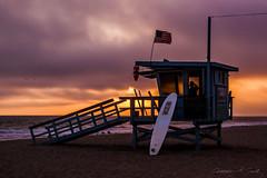 Rescue II (skippys1229) Tags: ocean california sunset rescue beach canon rebel losangeles pacific santamonica lifeguard pacificocean surfboard lifeguardstand hss santamonicacalifornia lglass canonef24105mmf4lisusm rebelt1i t1i canonrebelt1i