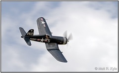 F4U-5N  Corsair (mrkyle229) Tags: sky clouds canon airplane flying aircraft wwii airshow corsair marines warbird f4u vought thunderovermichigan
