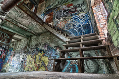The Staircase - Canada Malting Plant.jpg (Bob's Corner) Tags: graffiti montreal urbanexploration urbex canadamaltingplant