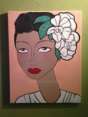 Billie Holiday painting jazz acrylic art (JessStolensoul) Tags: pink flowers vacation italy music food woman brown white paris rome art classic girl beautiful beauty smile fashion lady america painting hair fun lunch dallas fight cool women paint artist texas good african originalart originalpainting yo jazz style greece american rights painter mad swag jazzart classy artiste acrylicart billieholiday dallastexas originalfilter
