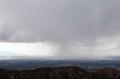 storm off Atalaya Mountain (Paul and Jill) Tags: storm newmexico santafe thunderhead atalayamountain atalayamountaintrail