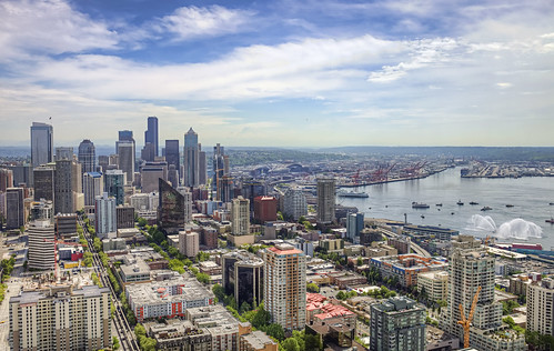 the flourishing view of Seattle