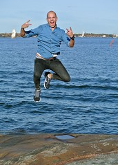Patrick flies again! (troutwerks) Tags: suomi finland flying helsinki patrick bestfriend leaping suomenlinna