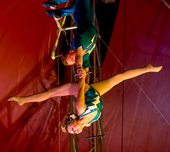Cradle Act Featuring Nathaniel Sorrell And Catherine Poema (Partridge Road) Tags: circus royal indiana canadian catherine terre nathaniel tarzan act haute cradle poema sorrell zerbini