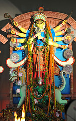 Durga Puja 2013, New Delhi (Mukul Banerjee (www.mukulbanerjee.com)) Tags: festival nikon goddess picture images idol newdelhi durga durgapuja bengali pandal protima 2013 nikond300 nikon2470mmf28 durgostav vision:text=077