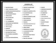 INDIAN FREEDOM FIGHTERS - LEADERS LIST (Artist ANIKARTICK,Chennai(T.Subbulapuram VASU)) Tags: art sketch artist drawings autograph gandhi animation celebrities chennai biography nehru pendrawings periyar animator voc ambedkar gandhiji mahatmagandhi famousartist celeberation rajaji freedomfighter bharathiar greatartist thilak freedomfighters rajarammohanroy sarojininaidu vinobabhave kamarajar indianartist indragandhi lalalajpatrai chennaiartist kamaraj indianfreedom popularartist autobiograph tahore indianfreedomfighter anikartick evramasamy tamilnaduartist thiruvika indianleaders indianfreedomfighters bagatsingh freedomindia kavimani freedomfightersofindia barathiar tamilnadufreedomfighters indianatist swamyaurobindo southindianfreedomfighters freedomfightersbiography jansirani lalbagadurshastri