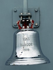 HMS Bangor - Ship's Bell (corax71) Tags: silver clyde boat mod marine war mine ship force bell military ministry navy bangor royal vessel 1999 class chrome maritime hunter fleet shipping naval defence nato forces warship armedforces firth minesweeper sandown armed hms sweeper ayrshire largs royalnavy ministryofdefence firthofclyde minecountermeasures sandownclass minehunter armedforce ayrshirecoast ukarmedforces hmsbangor ukmilitary ukforces hmsbangorm109 minecountermeasuresvessel sandownclassminehunter sandownclassminesweeper bangorm109