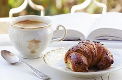 Coffee and croissant2 (Curly Courland) Tags: food brown coffee breakfast dinner table dessert cuisine baking cafe break sweet tasty drinks bakery croissant served caffeine serving coffeebreak delicacy delicatessen foodphoto palatable foodphotografy
