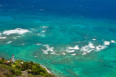 The Blue (MarkE_T) Tags: sea lighthouse holiday landscape hawaii oahu diamondhead colourful buildingsandstructures smcpentaxda1645mmf4edal pentakk5