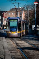 LUAS Crossover (PressVault.com) Tags: ireland dublin tram cobbled rails ie alstom luas sreet fingal citadis 4003 hpulling