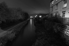 The Wyrley & Essington Canal, Leamore Lane, Walsall 10/10/2013 (Gary S. Crutchley) Tags: street uk travel england urban bw white black west heritage history monochrome night dark ed mono evening town canal nikon long exposure raw slow nightscape shot nightshot image time britain cut lock united country great bcn kingdom s junction lane shutter and after local nightphoto af nikkor scape townscape inland staffordshire navigation westmidlands narrowboat waterway walsall midlands d800 blackcountry 1635mm nightimage nightphotograph f40g essington wyrley leamore canalscape walsallweb walsallflickr