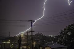 _HLR4156 (H.Robertson) Tags: nightphotography australia queensland nightsky lightning morningside summerstorms brisbanecity electricalstorms heathrobertson 18105mmvr nikond7000