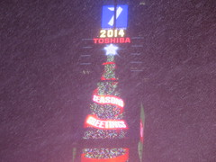 """""""Season's Greeting"""" from Times Square, New York City, USA where the New Years Eve ball is dropped, during a winter snow storm (RYANISLAND) Tags: nyc newyorkcity usa snow ny newyork storm cold weather america 14 snowstorm freezing american timessquare snowing storms wintersnow coldweather northeast extremeweather winterstorm noreaster winterweather 2014 snowstorms weatherstorm winterstormhercules"""