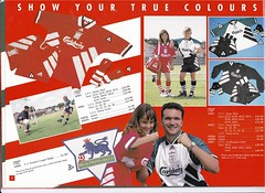 Liverpool Merchandise Catalogue Page 4 (The Sky Strikers) Tags: david liverpool james goal lets shirts kits merchandise catalogue razor ruddock 199394