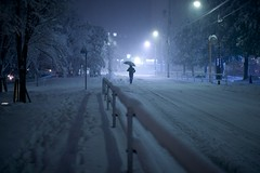 Alone in the storm (Thomo13) Tags: street white snow storm japan night tokyo yuki roppongi 2014 ringexcellence dblringexcellence tplringexcellence gettyimagesjapan14q1