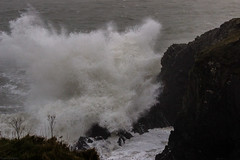Newtown Cove 14/02/2014 (Spookwoman) Tags: ireland sea storm landscape seaside scenery waves cove stormy val promenade newtown waterford tramore {vision}:{mountain}=0674 {vision}:{outdoor}=0567 {vision}:{flower}=0504 noewtown