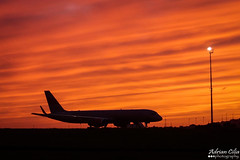 Jet Magic --- Boeing B757BBJ --- 9H-AVM (Drinu C) Tags: sunset orange nature silhouette clouds plane landscape aircraft sony malta boeing dsc 757 mla bizjet privatejet lmml jetmagic hx9v 757bbj adrianciliaphotography 9havm
