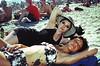 (carly rabalais) Tags: summer newyork film beach brooklyn twins crossprocess goth bikini babes july4th rockawaybeach yashicat4 laurawilliams stephaniewilliams lauraleigh venustreet