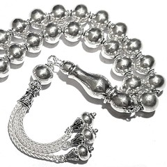 Full Sterling Silver Islamic Prayer Beads Tasbih 69 gram 13 inch (anatoliana_store) Tags: tasbih prayerbeads sterlingsilver chapelet masbaha tasbee