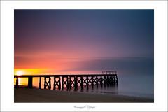 sunset (Emmanuel DEPARIS) Tags: bridge france beach nikon long photographer sable normandie normandy plage emmanuel ponton maisy d800 grandcamp exposur deparis