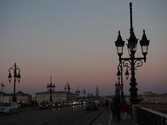 Bordeaux Pont de Pierre at Sunset (nschleheck) Tags: bridge sunset france cars river de pierre south bordeaux pont garonne gironde