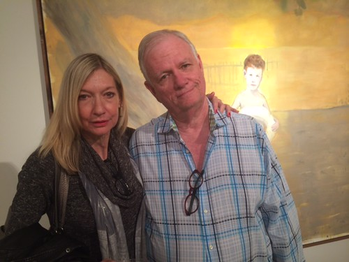 Art consultant Gayla Gordon with husband Demster at the Celaya opening at Fred Snitzer Gallery