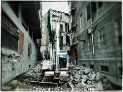 New street (PHILIP MAGEE) Tags: street old construction citycenter malaga destroying avdecervantes