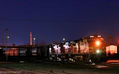 Working the Yard (Jeff Carlson_82) Tags: nightphotography railroad train ks railway kansas local bluehour topeka ge railfan bnsf burlingtonnorthernsantafe c449w l71