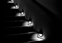 Partial Illumination (pjpink) Tags: lighting winter blackandwhite bw stairs lights virginia steps january illumination richmond staircase rva 2015 vmfa virginiamuseumoffinearts pjpink virginiamuseum