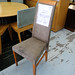 High back slim dining chair